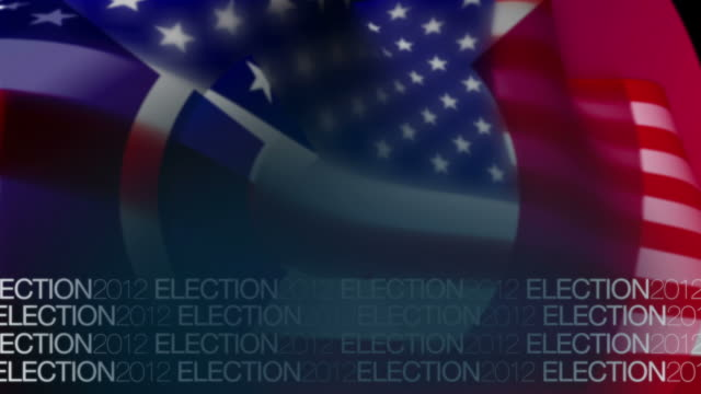 USA Flag Elactions background video