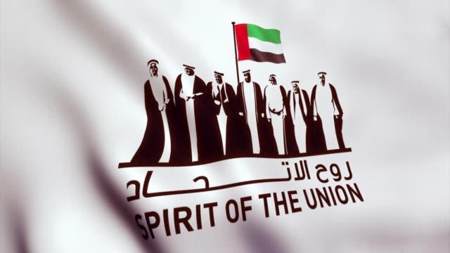 birleşik arap emirlikleri bayrağı milli günü kutlamaları için - uae flag stok videoları ve detay görüntü çekimi