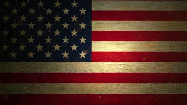 usa flag - grunge. 4k - состаривание стоковые видео и кадры b-roll