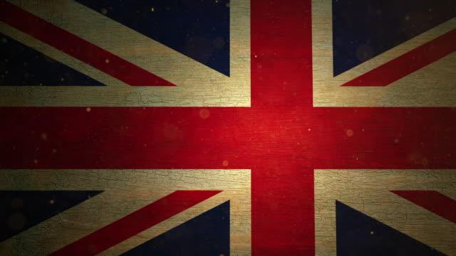 UK Flag - Grunge. 4k video