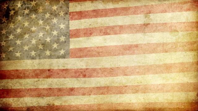flaga usa na grunge.  hd - us flag filmów i materiałów b-roll