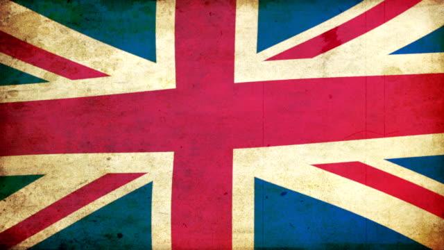 UK Flag - Grunge. HD video