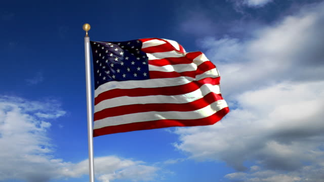 US Flag. HD Progressive Frames video