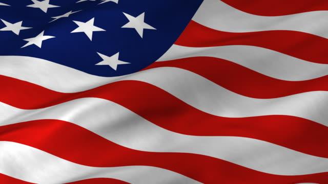 Royalty Free Looping American Flags Hd Video 4k Stock Footage B