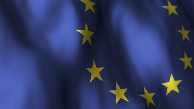EU Flag High Detail - Looping video