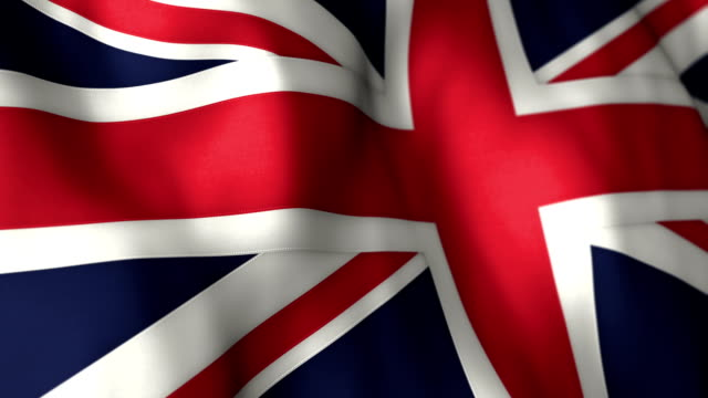 UK Flag High Detail - Looping video
