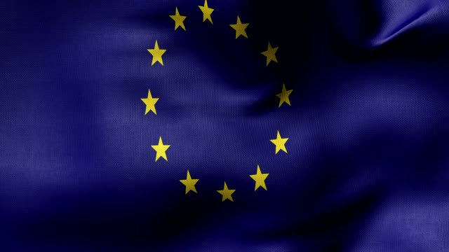 EU flag loop video