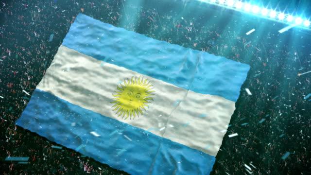Flag of Argentina at the stadium video