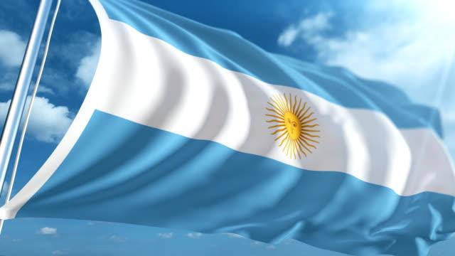 Bandera de Argentina | Loopable - vídeo