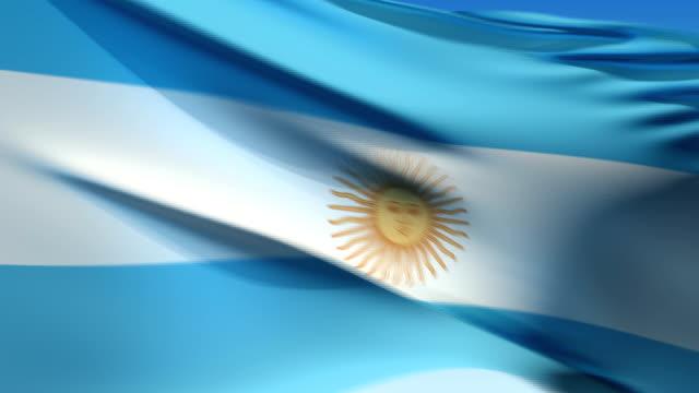 bandiera dell'argentina (hd 1080 i60 - bandiera dell'argentina video stock e b–roll