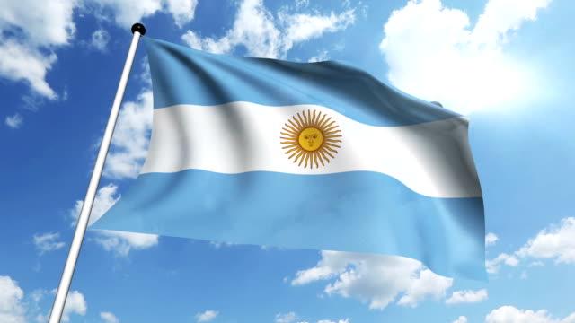 Flag of Argentina (loop) video