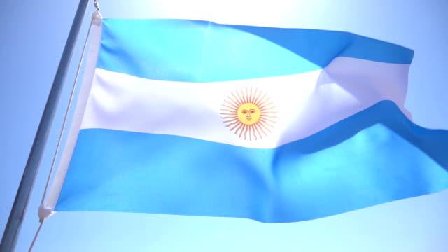 Bandera de Argentina - vídeo