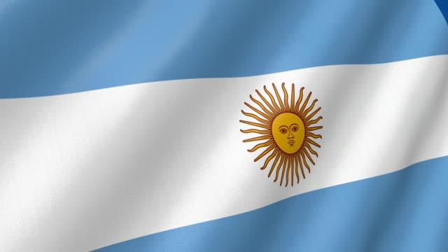 flag of Argentina waving. 3d render seamless loop video