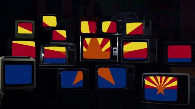 Flag of Arizona on Vintage Televisions.