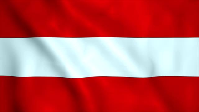 vídeos y material grabado en eventos de stock de bandera de austria  - austria