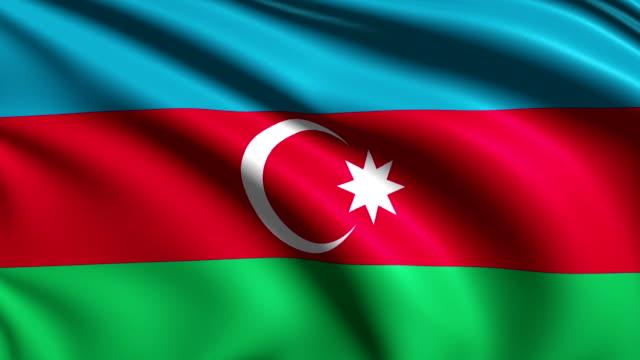 flag of Azerbaijan (loop) video
