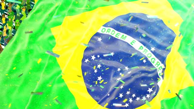 Flag of Brazil at the stadium video