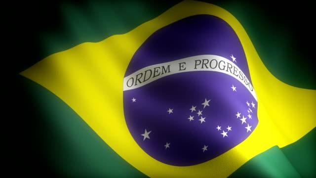Flag of Brazil (seamless) video