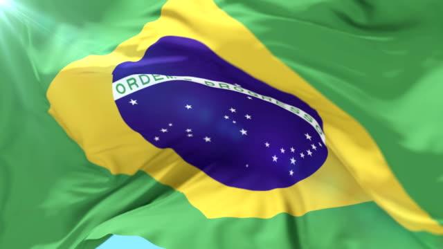 flagga brasilien vinkade åt vind i långsam, loop - brasilien bildbanksvideor och videomaterial från bakom kulisserna