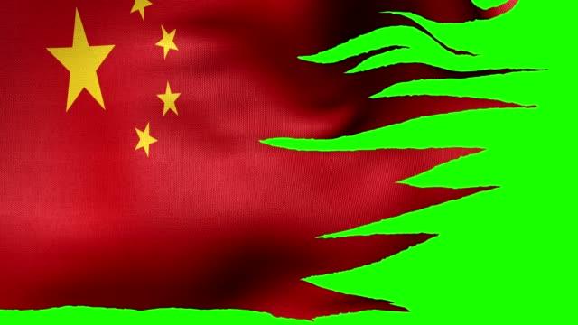 Bandera de China lazo alfa - vídeo