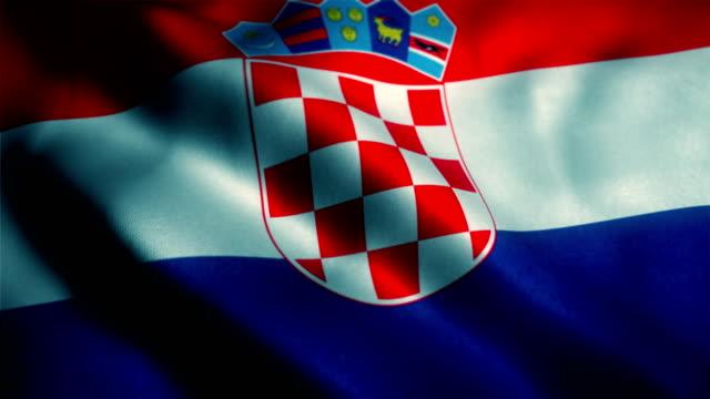 flag of croatia - хорватия стоковые видео и кадры b-roll