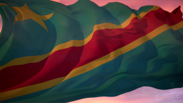 Flag of Democratic Republic of the Congo video