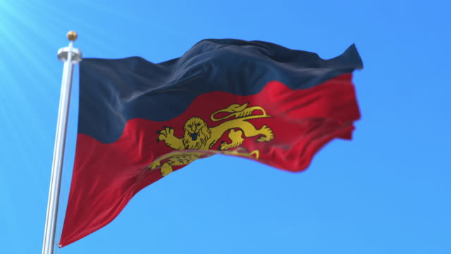 Flag of department of Calvados in the Normandy region, France. Loop Flag of department of Calvados in the Normandy region, France. Loop caen stock videos & royalty-free footage