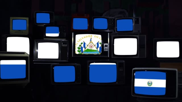 Flag of El Salvador on Retro Televisions.