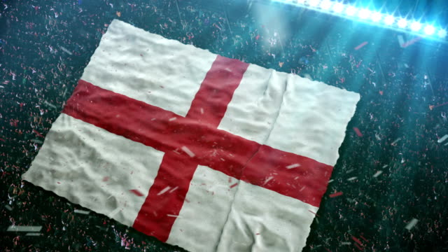 Flag of England at the stadium
