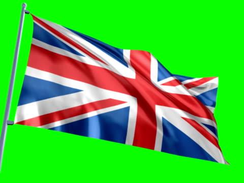 Flag of England on Chroma-Key video