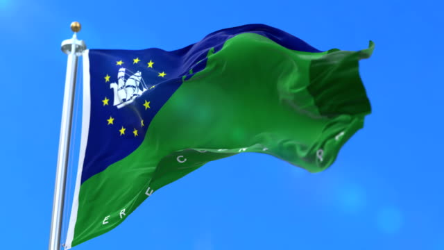 Flag of Erie, county of the state of Pennsylvania, in United States - loop video