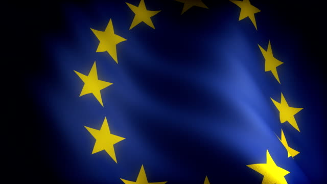 Flag of European Community (seamless) video