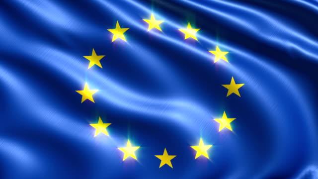 flag of European Union (loop) video