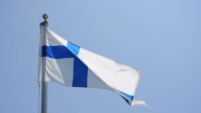 flag of finland - finland bildbanksvideor och videomaterial från bakom kulisserna