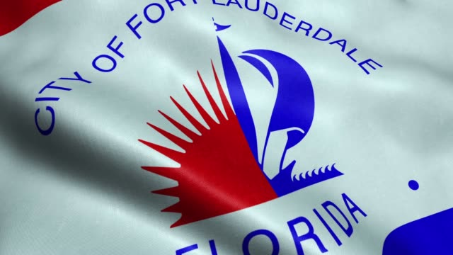 Flag of Fort Lauderdale USA City Seamless Looping Waving Animation 3D waving USA city flag of Fort Lauderdale  Seamless Loop  Full HD 1920x1080 florida us state stock videos & royalty-free footage