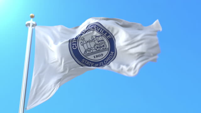 Flag of Gainesville city, in the state of Florida, United States - loop Flag of Gainesville city, in the state of Florida, United States - loop florida us state stock videos & royalty-free footage