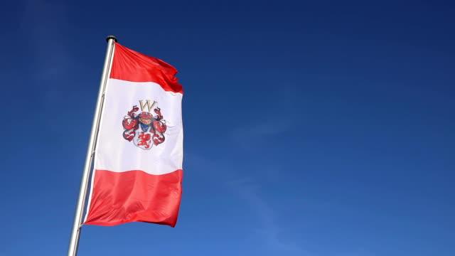 Eine Flagge der deutschen Stadt Ueckermünde – Video