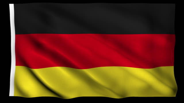 4K Flag of Germany Alpha Loopable 4K Resolution Country flag canvas fabric stock videos & royalty-free footage