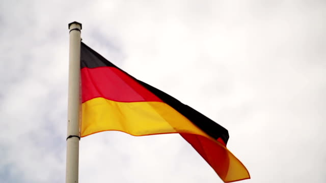 Flag of Germany, Slow Motion video