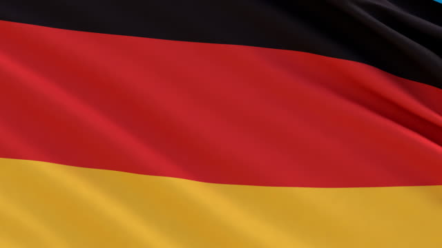 Flag of Germany waving in the wind video