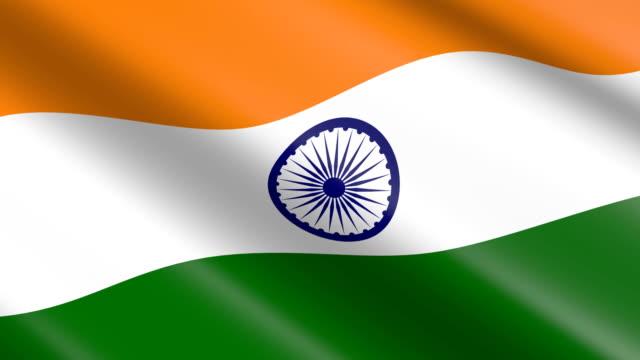 Flag of India (seamless loop) video
