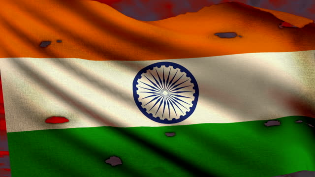 flag of india waving at battlefield - independence day stock videos & royalty-free footage