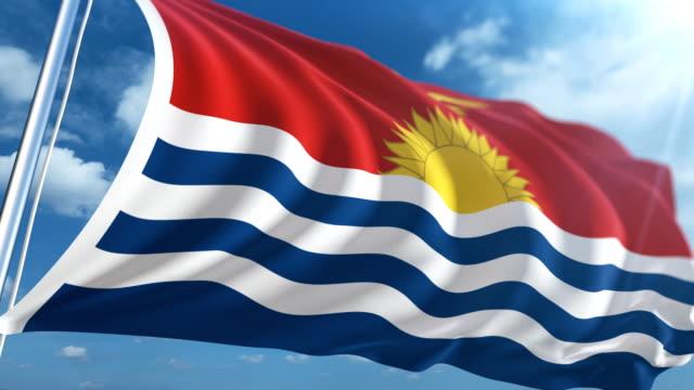vídeos y material grabado en eventos de stock de bandera de kiribati | loopable - micronesia