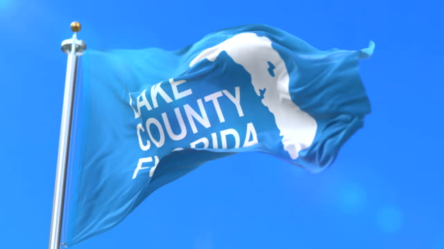 Flag of Lake County of the state of Florida, in United States - loop video