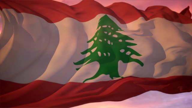 flag of lebanon - lebanon 個影片檔及 b 捲影像