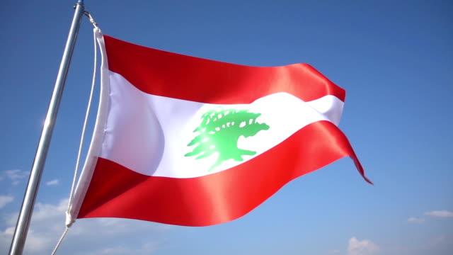 黎巴嫩的旗子 - lebanon 個影片檔及 b 捲影像