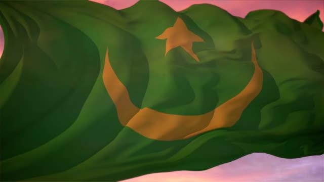 Flag of Mauritania video