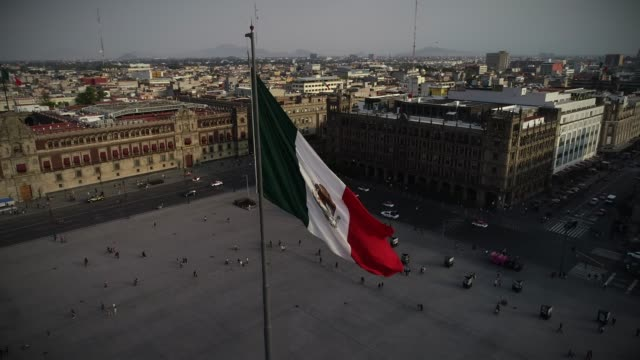flag of mexico - мексика стоковые видео и кадры b-roll