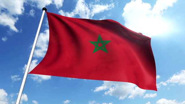 flag of Morocco video
