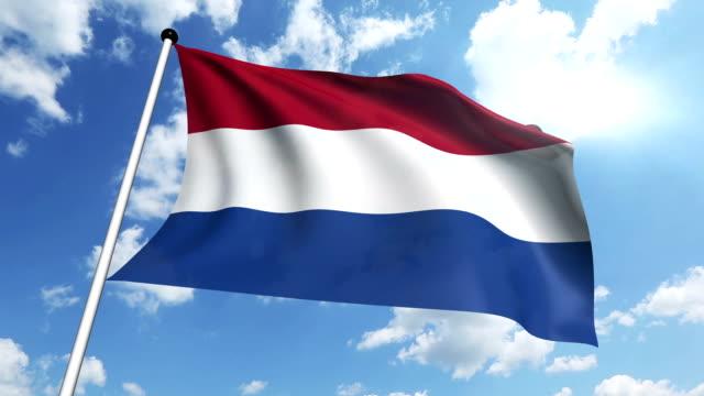 flag of netherlands - kanvas bildbanksvideor och videomaterial från bakom kulisserna